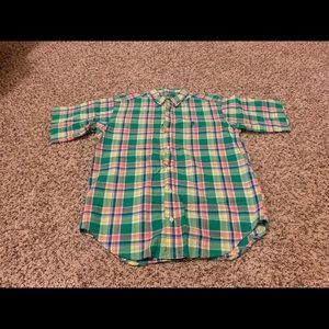 Polo by Ralph Lauren Shirts & Tops - Polo Ralph Lauren Boys Green Plaid Button Down LG